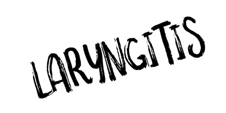 Laryngitis rubber stamp Stock Photo