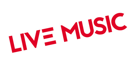 musik: Live Music rubber stamp