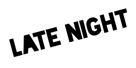 Late Night rubber stamp Stock Photo - 83010226