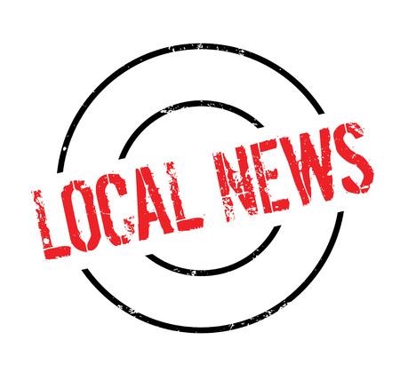 Sello de goma de las noticias locales Foto de archivo - 83060201