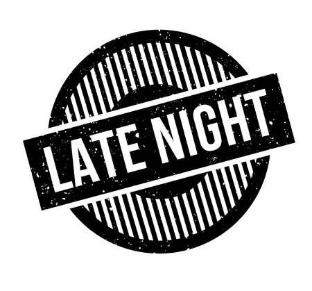 Late Night rubber stamp Stock Vector - 83061077