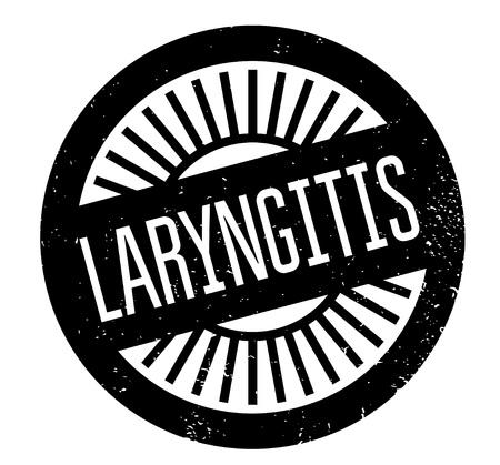 inflamed: Laryngitis rubber stamp Illustration