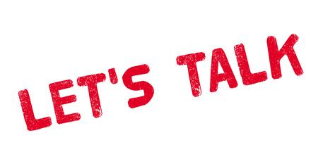 let s: Let us Talk rubber stamp Illustration