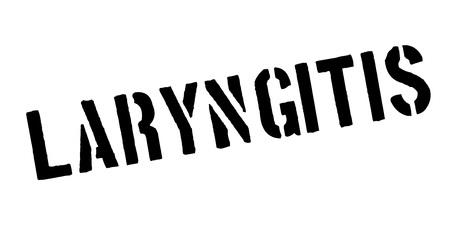 Laryngitis rubber stamp Ilustração