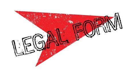 legitimate: Legal Form rubber stamp