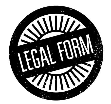 Legal Form rubber stamp Vetores