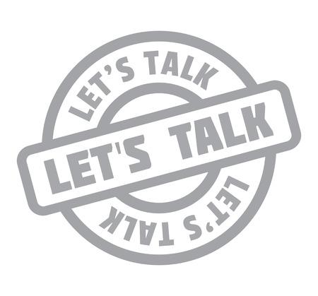 Let us Talk rubber stamp Illustration