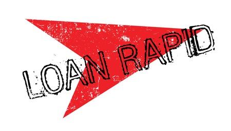 Loan Rapid rubber stamp Illustration