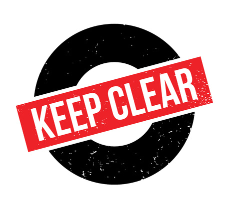 illustrative: Keep Clear rubber stamp