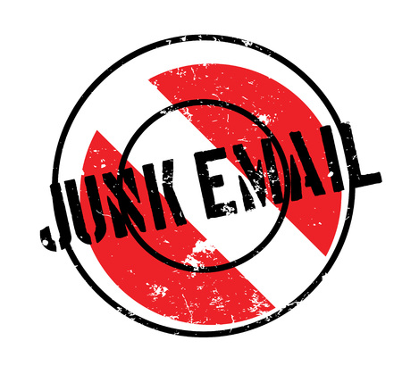 Junk Email rubber stamp