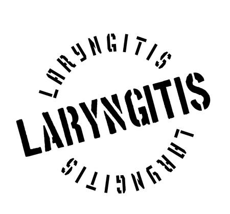 inflamed: Laryngitis rubber stamp.