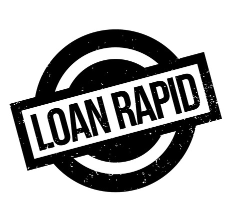 Loan Rapid rubber stamp Banco de Imagens - 83010416