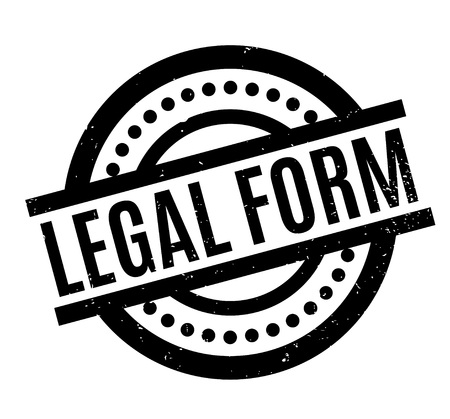 Legal Form rubber stamp