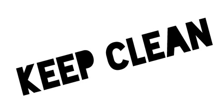 keep clean: Keep Clean rubber stamp