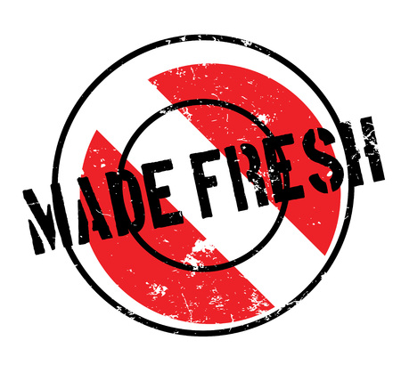 uncultivated: Made Fresh rubber stamp