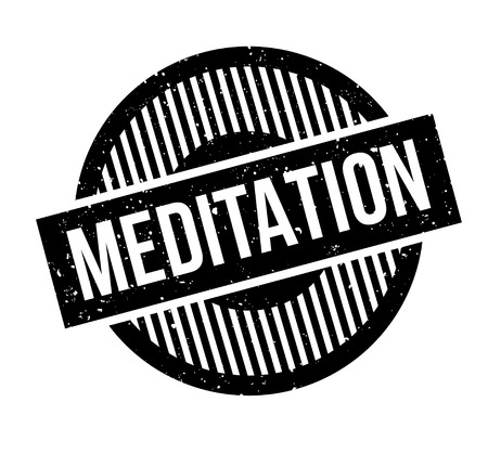 Meditation rubber stamp Stock Vector - 83070614