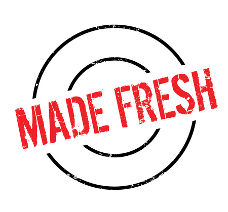 Made Fresh rubber stamp