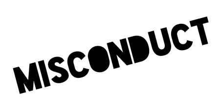 Misconduct rubber stamp Illustration