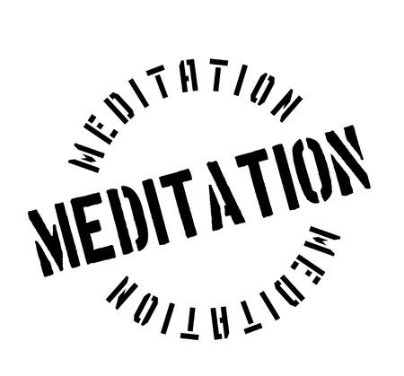 Meditation rubber stamp Stock Vector - 83070252