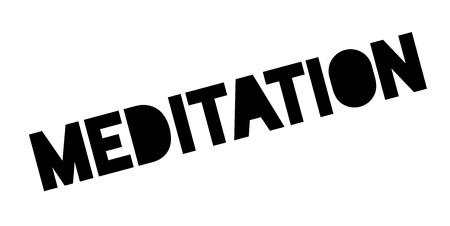 Meditation rubber stamp Stock Vector - 83069731