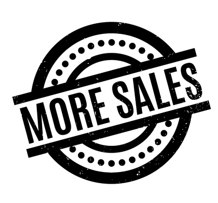 better: More Sales rubber stamp