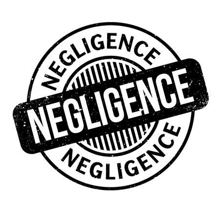 Negligence rubber stamp Stock Photo