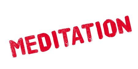 Sello de goma de la meditación Foto de archivo - 83069760