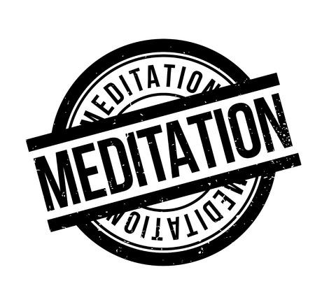 Sello de goma de la meditación Foto de archivo - 83070916