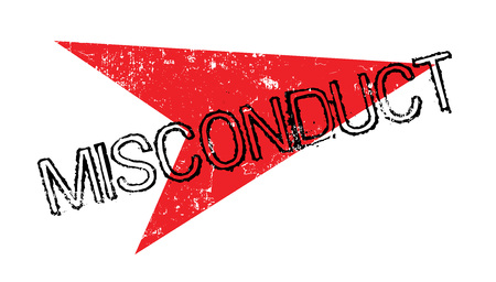 racism: Misconduct rubber stamp Illustration
