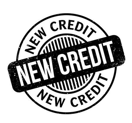 New Credit rubber stamp Banco de Imagens - 83069795