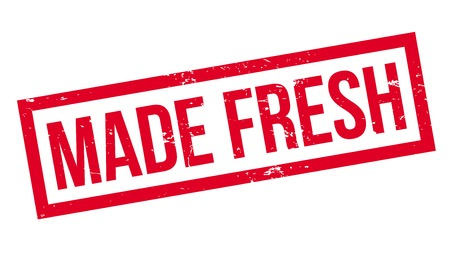 Made Fresh rubber stamp Stock fotó - 83069804