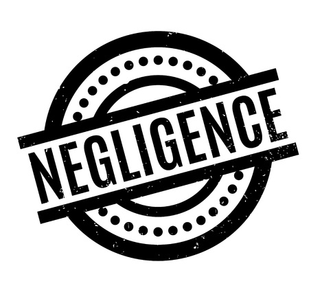 Negligence rubber stamp Illustration
