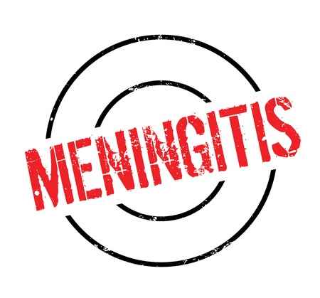 Meningitis rubber stamp