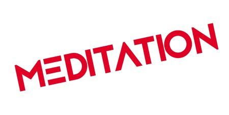 Sello de goma de la meditación Foto de archivo - 83069841