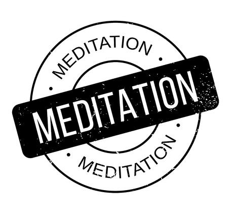Meditation rubber stamp