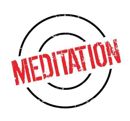 Meditatie rubberen stempel