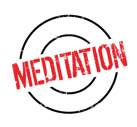 Meditation rubber stamp