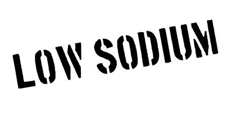 salt free: Low Sodium rubber stamp Illustration