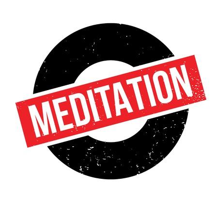 Meditation rubber stamp Stock Vector - 83069962