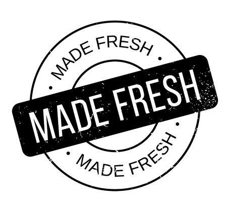 Made Fresh rubber stamp Stock fotó - 83070461