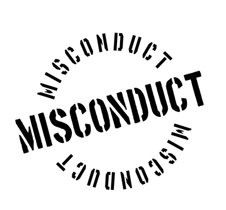 Misconduct rubber stamp Ilustrace