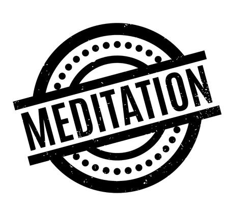 Meditation rubber stamp. Illustration
