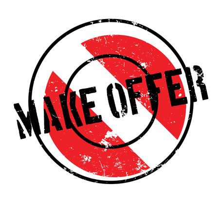 Make Offer rubber stamp. Ilustrace