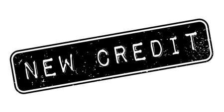 New Credit rubber stamp. Banco de Imagens - 83069996