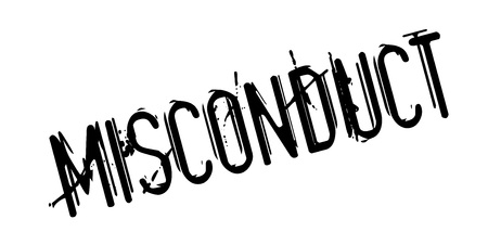 Misconduct rubber stamp Stock Photo