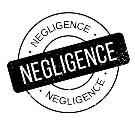Negligence rubber stamp Illusztráció
