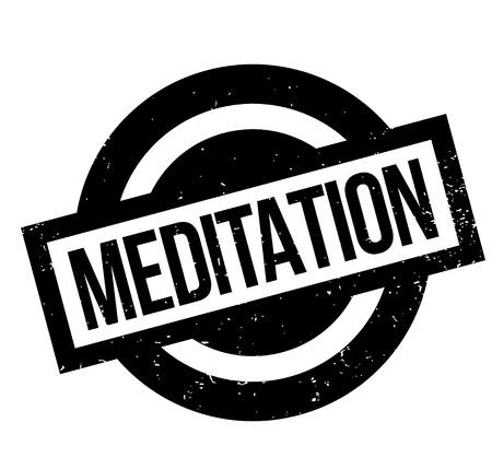 Sello de goma de la meditación Foto de archivo - 83070800