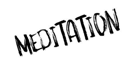 瞑想ゴム印