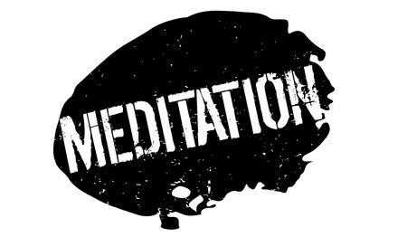 Sello de goma de la meditación Foto de archivo - 83070537