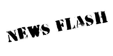 News Flash rubber stamp